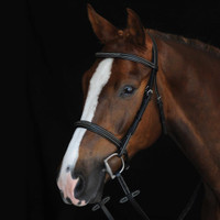Collegiate Comfort Crown Raised, Fancy Stitched Bridle, Pony & Cob, Brown