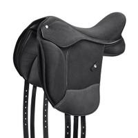 """Wintec Pro Pony Dressage Saddle, Flocked, 16"""", Black"""