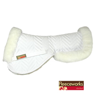 Fleeceworks Sheepskin Pony Half Pad, Shimmable with Rolled Edge