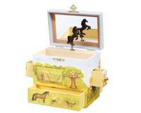 Horse Ranch Musical Treasure Box
