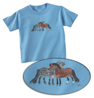 Lila Light Blue Mutual Grooming Toddler Tee
