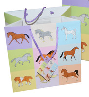 Pastel Horses Gift Bag, Medium
