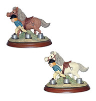 The Stepping Race, Thelwell Model, Brown and Grey Pony