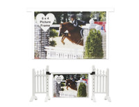 White Photo Frame from Model Horse Jumps