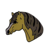 Kelley Collectable Pin - Grey Pony Head