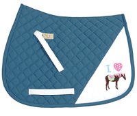 TuffRider I Heart Pony Saddle Pad, Parisian Blue