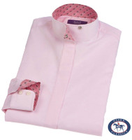 Essex Classics 'La Vista' Wrap Collar Shirt, Pink, Sizes 12, 14 & 16 Only