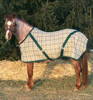 "Bengal Stable Sheet, Forest Plaid, 54"" & 56"" & Only"