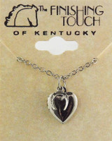 Silver Locket with Silver Horseshoe Charm