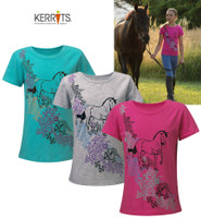 Kerrits Kids Spring Pasture Tee, Seaglass Large Only