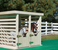 Model Horse Jumps Two-Stall Barn