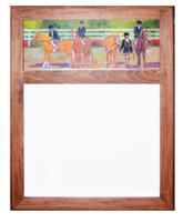 Wood Framed Dry Erase Board with Kids & Ponies