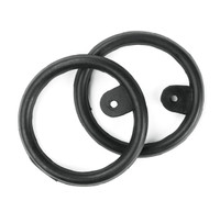 Eco Pure Peacock Rubber Rings with Tabs, Black