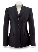RJ Classics Washable Black Herringbone Show Coat, Sizes 2 - 16