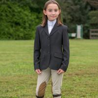 RJ Classics Hampton Black Show Coat, Sizes 2 - 16