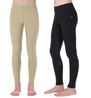 Kerrits Kids Ice Fil Tech Tight, Black & Tan