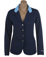 Kathryn Lily Showteck Soft Shell Coat, Navy/Sky Blue, Sizes 2 - 14