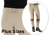 Ovation Euro Seat, Front Zip Jodhpurs, PLUS Sizes 4 - 16