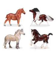 Breyer Stablemates British Ponies and Draught Set