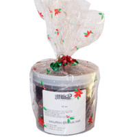 Stud Muffins 45 oz Cello Wrapped Christmas Bucket of Horse Treats