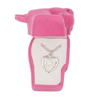 Horse Head Heart Necklace in Horse Head Gift Box