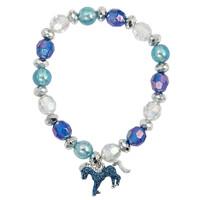 Horse Stretch Glitter Bracelet, Turquoise