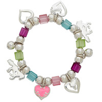 Beaded Pony Love Stretch Bracelet, Multi-Colored