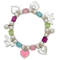 Beaded Pony Love Stretch Bracelet, Multi-Colored