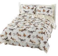 Horses All Over Sheet & Comforter Set