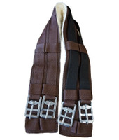 Miniature English Girth with Elastic, Brown, 26""