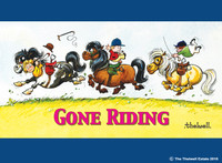 Thelwell Waterproof Placemats, Gone Riding, Set of 4