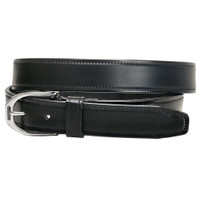 "Tory 1.25"" Stirrup Buckle Belt, Black, 24"" - 32"""