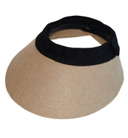 EquiVisor Helmet Visor, Jute with Black Band