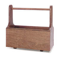 Mini Wooden Grooming Tote