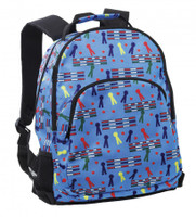 Rails and Ribbons Backpack, Blue