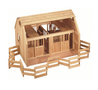 Groton Stables Wooden Barn with Corral