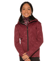 Kerrits Kids Horsehoe Hoodie, Barn Red, Ebony & Steel Grey, S & XL Only