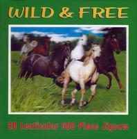 Wild & Free, 3D Lenticular 500 Piece Horse Puzzle
