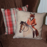 Mister Fox Throw Pillow
