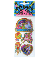 Rainbow World Metallic Stickers with Unicorns