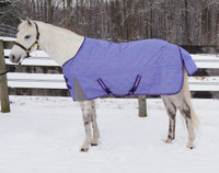 "TuffRider Medium Turnout with ClozEase, Perwinkle/Rainbow Horses, 36"" - 69"""
