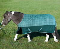 TuffRider 1200D Mini Turnout Blanket, Two-Tone Teal Plaid, 36'' - 56''
