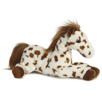 "Aurora 12"" Flopsie, Scout, Brown & White Appaloosa"