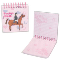 Ponies in the Pink Small Square Notebook