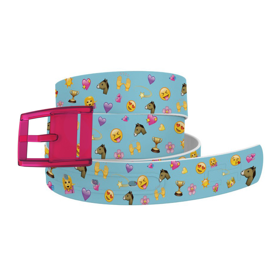 Emoji Horse with Hot Pink Buckle