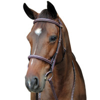 HDR Fancy Raised Comfort Crown Padded Bridle, Pony & Cob