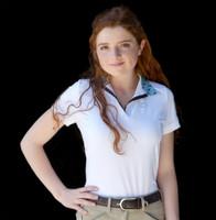 Kathryn Lily ProAir2 Short Sleeve White Shirt with Moose Tracks Trim, XXS - L