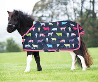 "Shires Miniature Highlander Rain Sheet, Cow Print, 33"" - 45"""