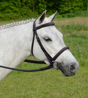 Nunn Finer Giulia Wide Noseband, Padded Bridle, Havana, Pony & Cob
