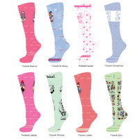 InkStables Equestrian Boot Socks for Girls, Thelwell Ponies